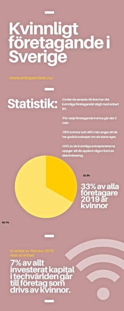 infograf - kvinnligt företagande