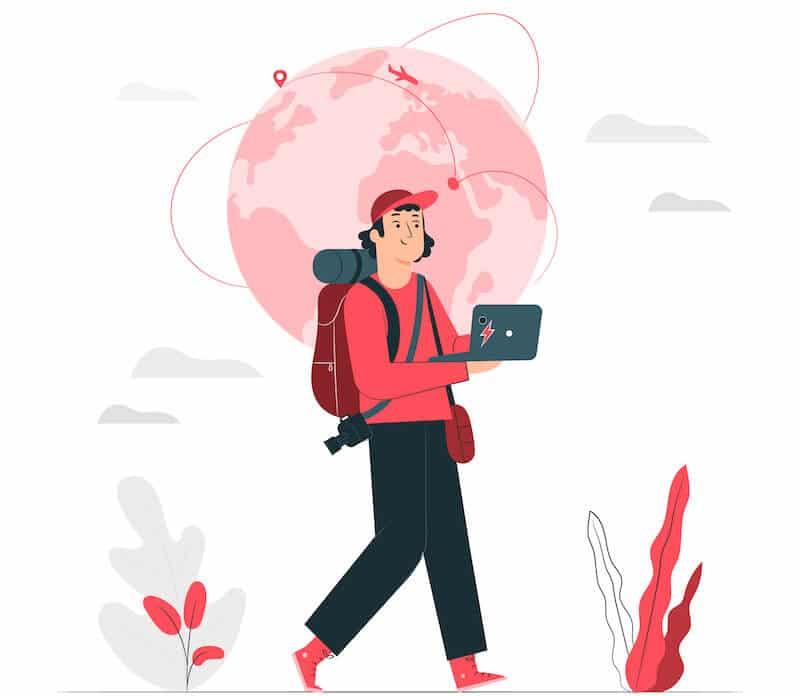 digital nomad - jobba på distans